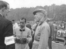 B Bira, Earl Howe & (just visible) Richard Seaman & Hermann Lang 1937 Donington GP grid